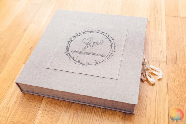 B - Caja de Lino Para álbum 35x35 de Lino