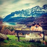 #fotografodebodas #fotosentregadaselmismodia #fotografozaragoza #pirineo #otoño #boda #postboda #nophoshop #novias #bodas #color #sacarpartidoalossitios #fotografobodaszaragoza