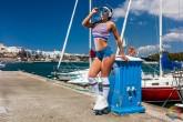 Patinando en el Puerto de Mahón - Menorca