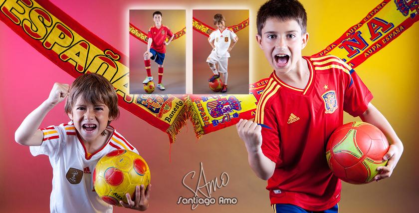 Album de comunión vestidos de Futbol