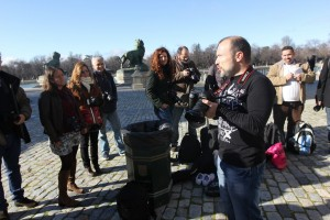 Impartiendo un curso de Fotografía en Madrid